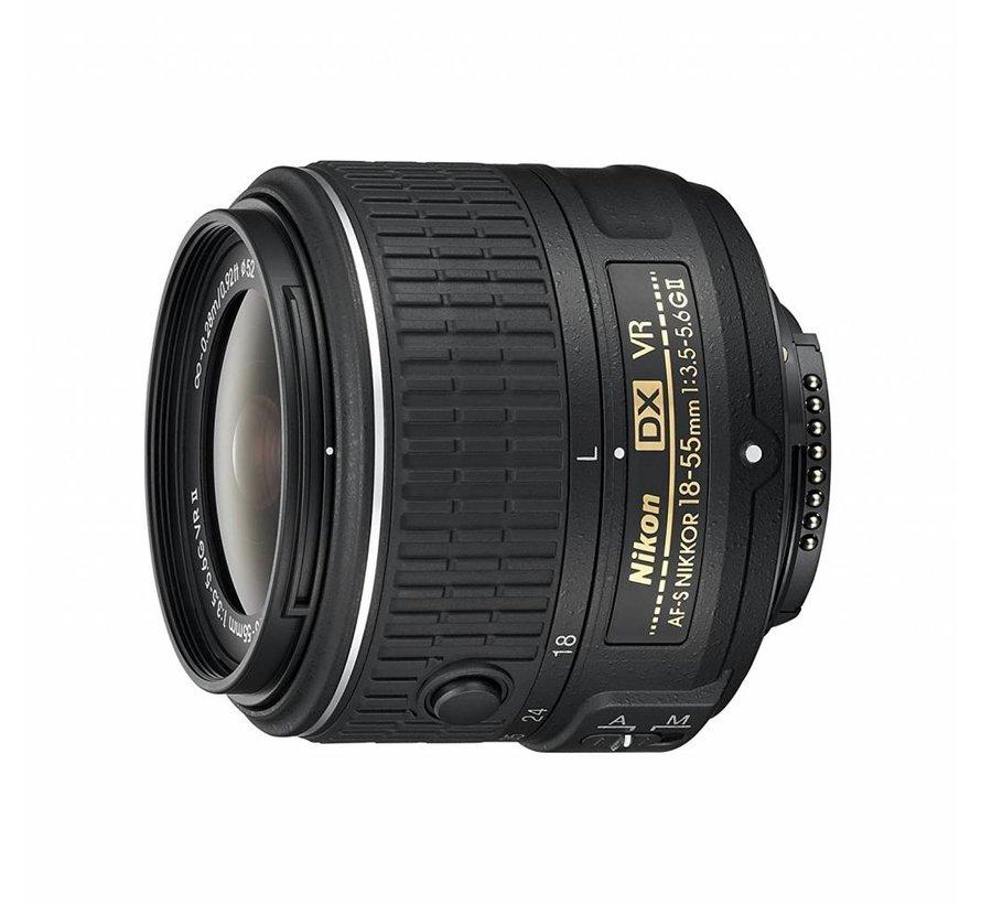 Nikon AF-S Nikkor DX 18-55 mm 1: 3.5-5.6G Lente VR II