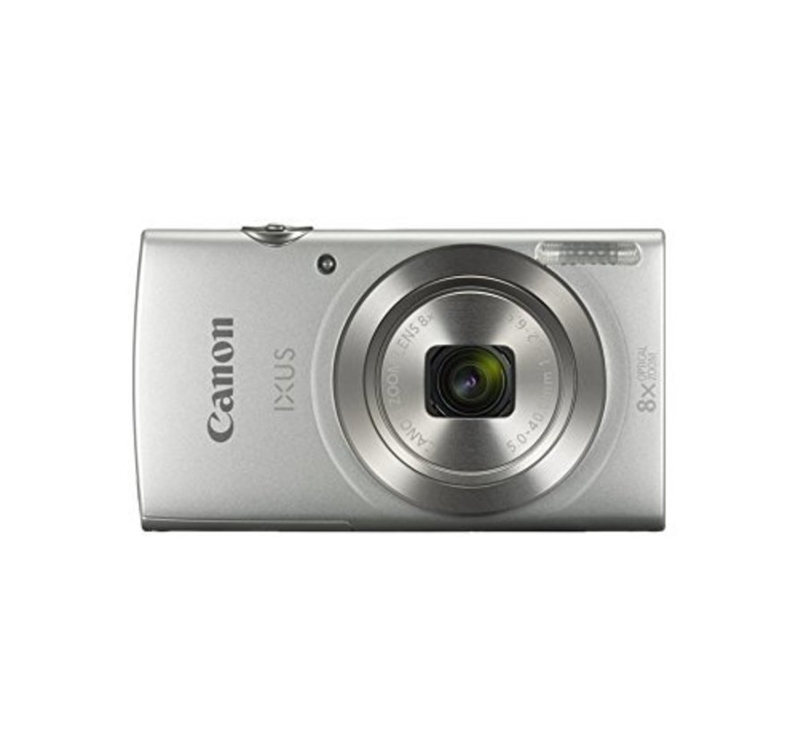 Canon IXUS 185 digital camera (20 megapixels, 8x optical zoom, 6.8 cm (2.7 inch) LCD display, HD movies) silver