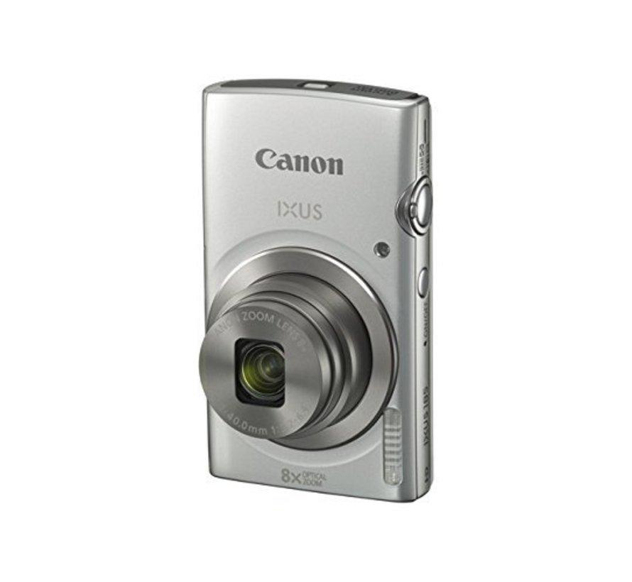 Cámara digital Canon IXUS 185 (20 megapíxeles, zoom óptico 8x, pantalla LCD de 6,8 cm (2,7 pulgadas), películas HD) plateada