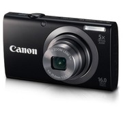 Canon Canon PowerShot A2300 digital camera (16 megapixels, 5x optical zoom, 6.9 cm (2.7 inch) display, image stabilized) black