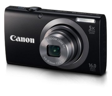 Canon Cámara digital Canon PowerShot A2300 (16 megapíxeles, zoom óptico 5x, pantalla de 6,9 cm (2,7 pulgadas), imagen estabilizada) negro