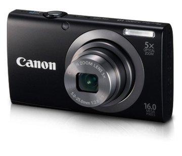 Canon Canon PowerShot A2300 Digitalkamera (16 Megapixel, 5-fach opt. Zoom, 6,9 cm (2,7 Zoll) Display, bildstabilisiert) schwarz
