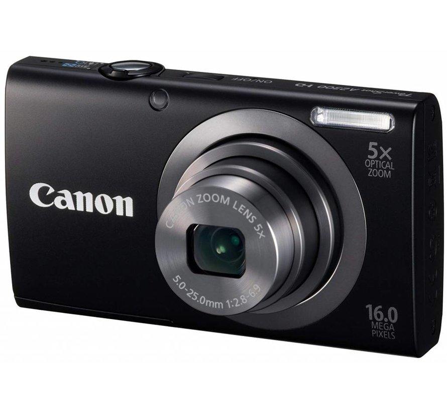 Cámara digital Canon PowerShot A2300 (16 megapíxeles, zoom óptico 5x, pantalla de 6,9 cm (2,7 pulgadas), imagen estabilizada) negro