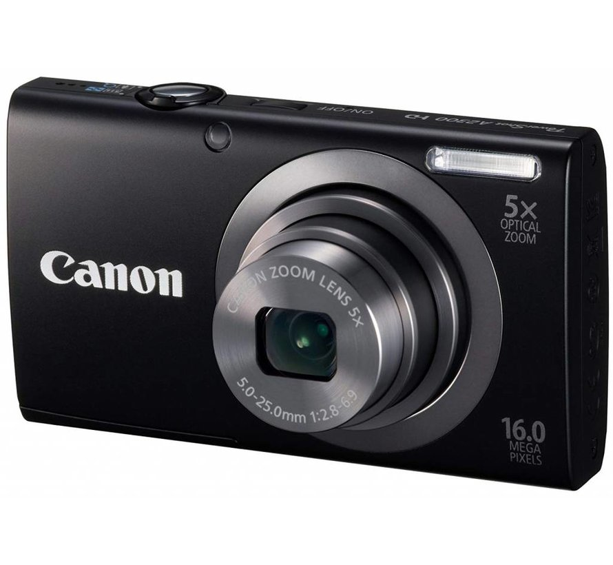Canon PowerShot A2300 Digitalkamera (16 Megapixel, 5-fach opt. Zoom, 6,9 cm (2,7 Zoll) Display, bildstabilisiert) schwarz