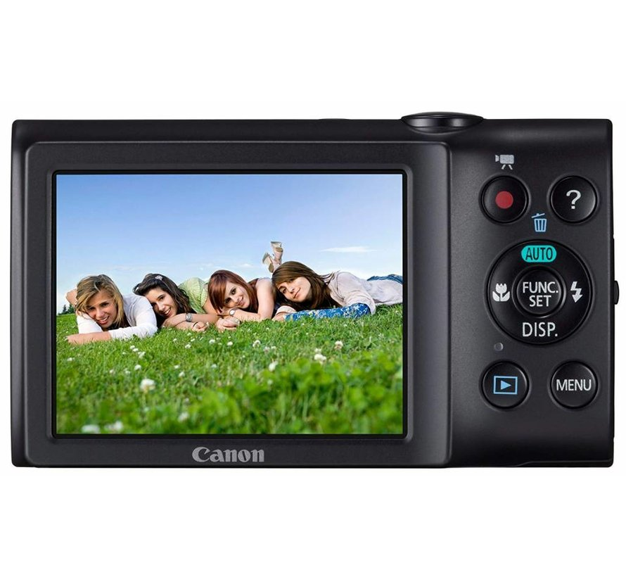 Canon PowerShot A2300 digital camera (16 megapixels, 5x optical zoom, 6.9 cm (2.7 inch) display, image stabilized) black