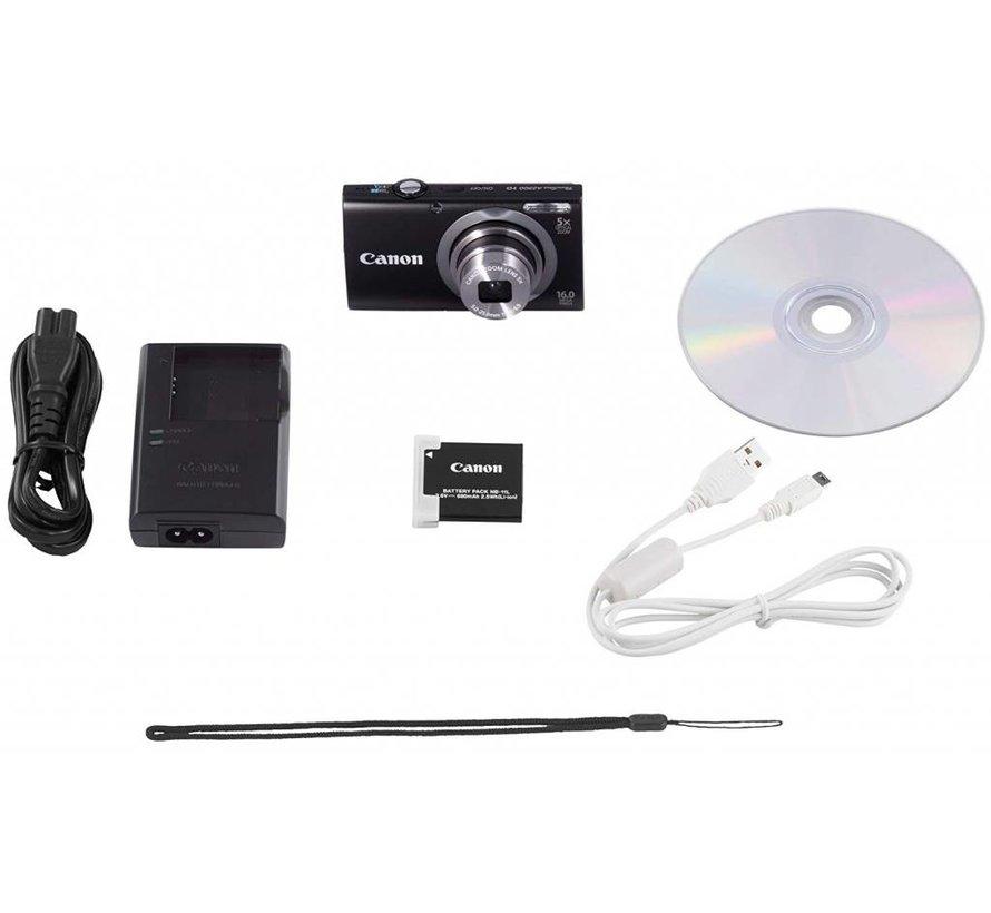 Canon PowerShot A2300 digital camera (16 megapixels, 5x optical zoom, 6.9 cm (2.7 inch) display, image stabilized) black