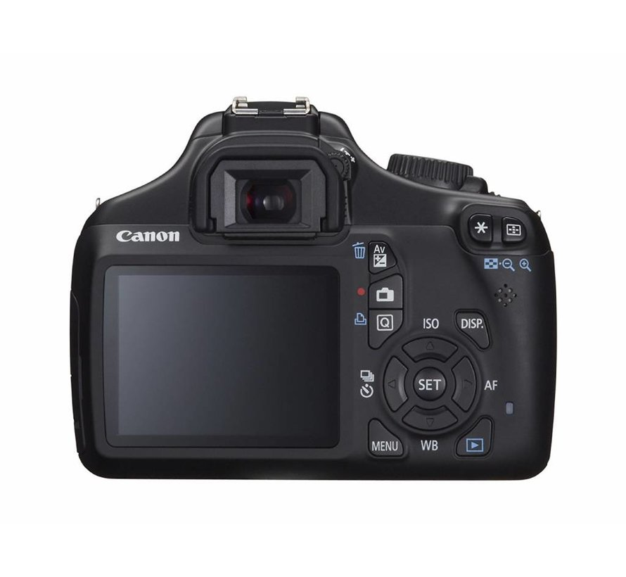 Cámara digital EOS 1100D SLR de Canon (12 megapíxeles, pantalla de 6,9 cm (2,7 pulgadas), compatible con HD, visualización en vivo)