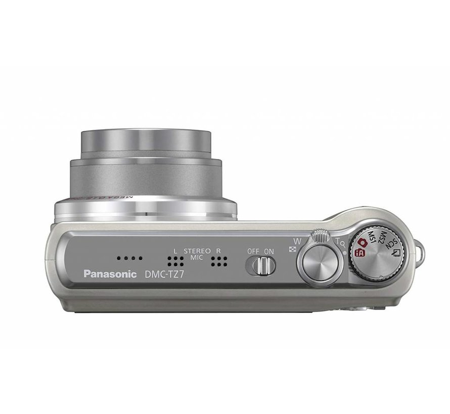Cámara digital Panasonic DMC-TZ7EG-S (10 megapíxeles, zoom óptico 12x, pantalla de 7,6 cm, estabilizador de imagen) plateada