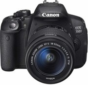 Canon Canon EOS 700D SLR-Digitalkamera (18 megapíxeles, 7,6 cm (3 Zoll) Pantalla táctil, Full HD, Live-View) Kit inkl. EF-S 18-55mm 1: 3,5-5,6 IS STM
