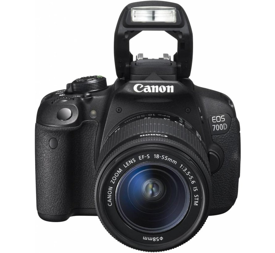 Canon EOS 700D SLR Digital Camera (18 Megapixels, 7.6 cm (3 inch) Touchscreen, Full HD, Live View) Kit incl. EF-S 18-55mm 1: 3.5-5.6 IS STM
