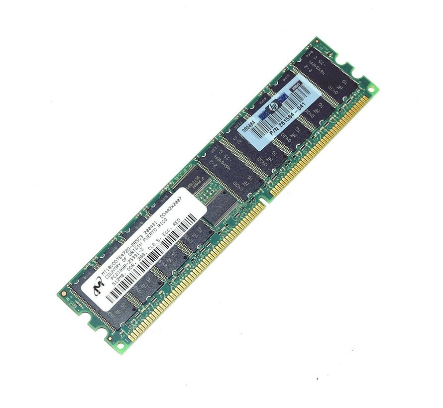 Micron 512MB MT18VDDT6472G-265C3 DDR 184pin CL2.5 ECC Ram