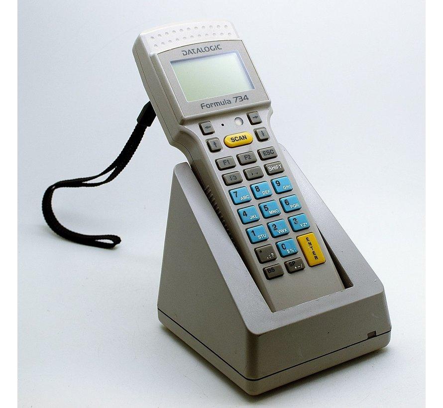 Datalogic Formula 734 Terminal Barcode Scanner Scanner + Charging Station