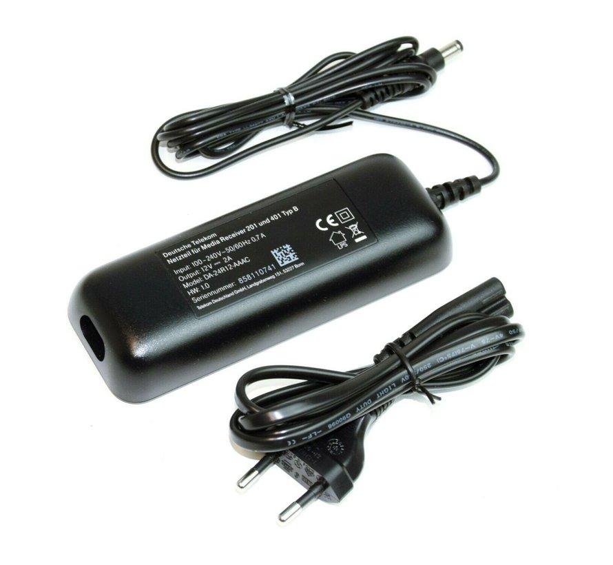 Adaptador de corriente original para Telekom Media Receiver 201 & 401 tipo B DA-24R12-AAAC NUEVO