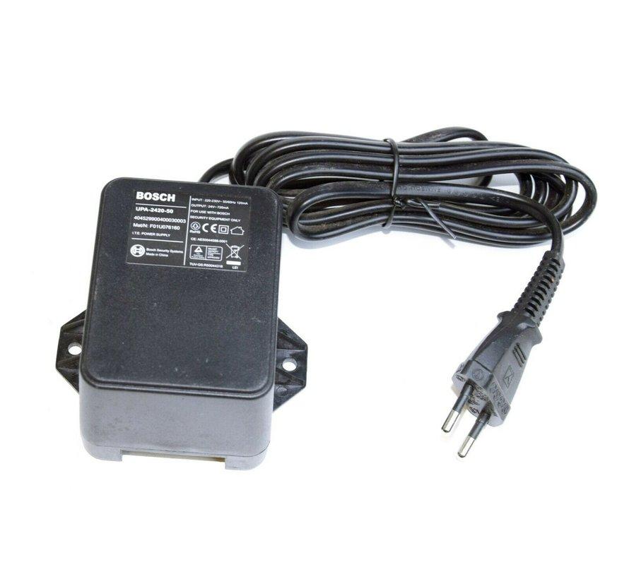BOSCH Fuente de alimentación 24V CA 720mA para videocámaras UPA-2420-50 Fuente de alimentación Cargador