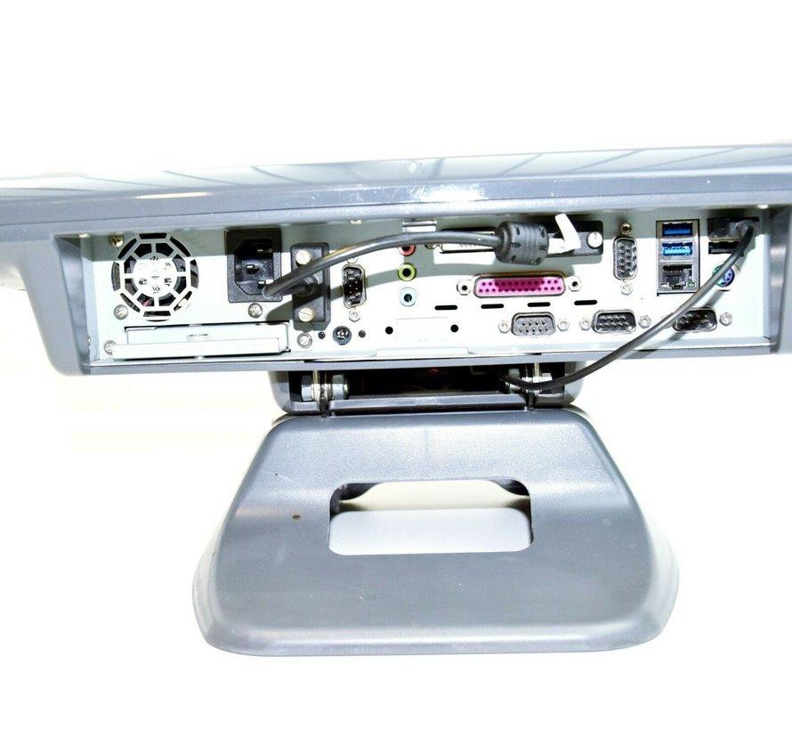 "SAGA SGS-150-DC-G Kassensystem POS Terminal 15"" Touch Screen Display PC"