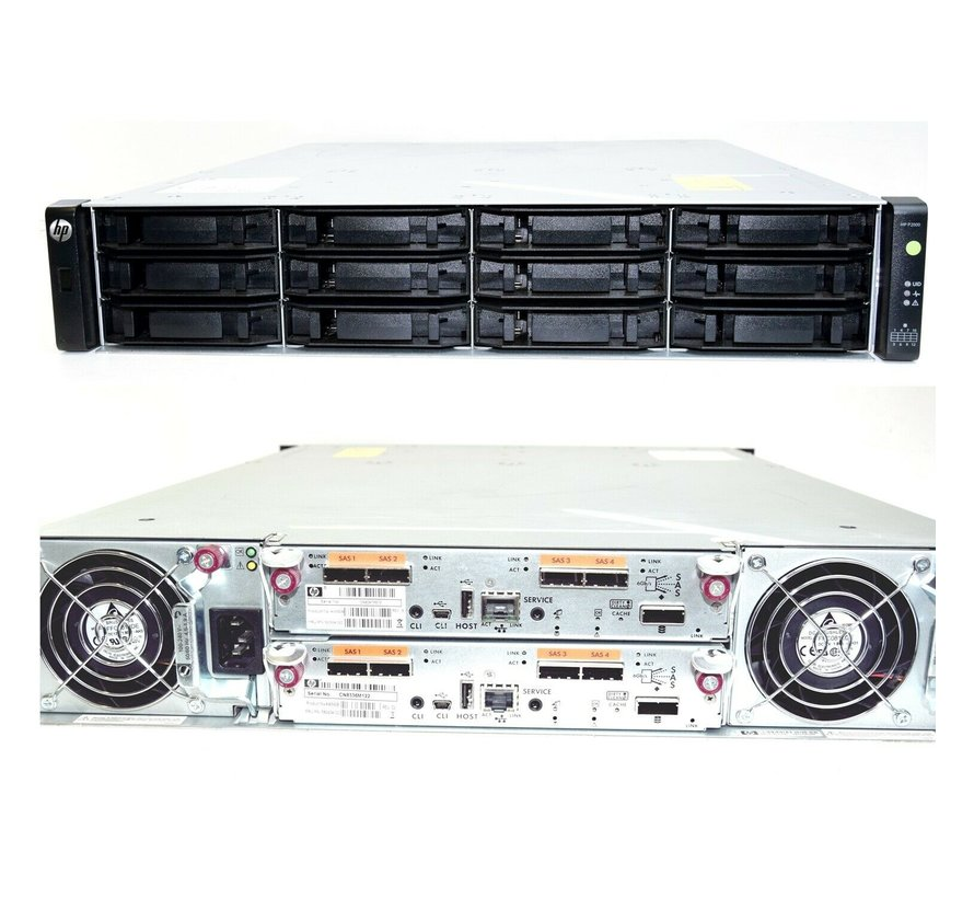 HP StorageWorks P2000 FCLSE-0801 2x AW592B Controller / 2x Power Supplies