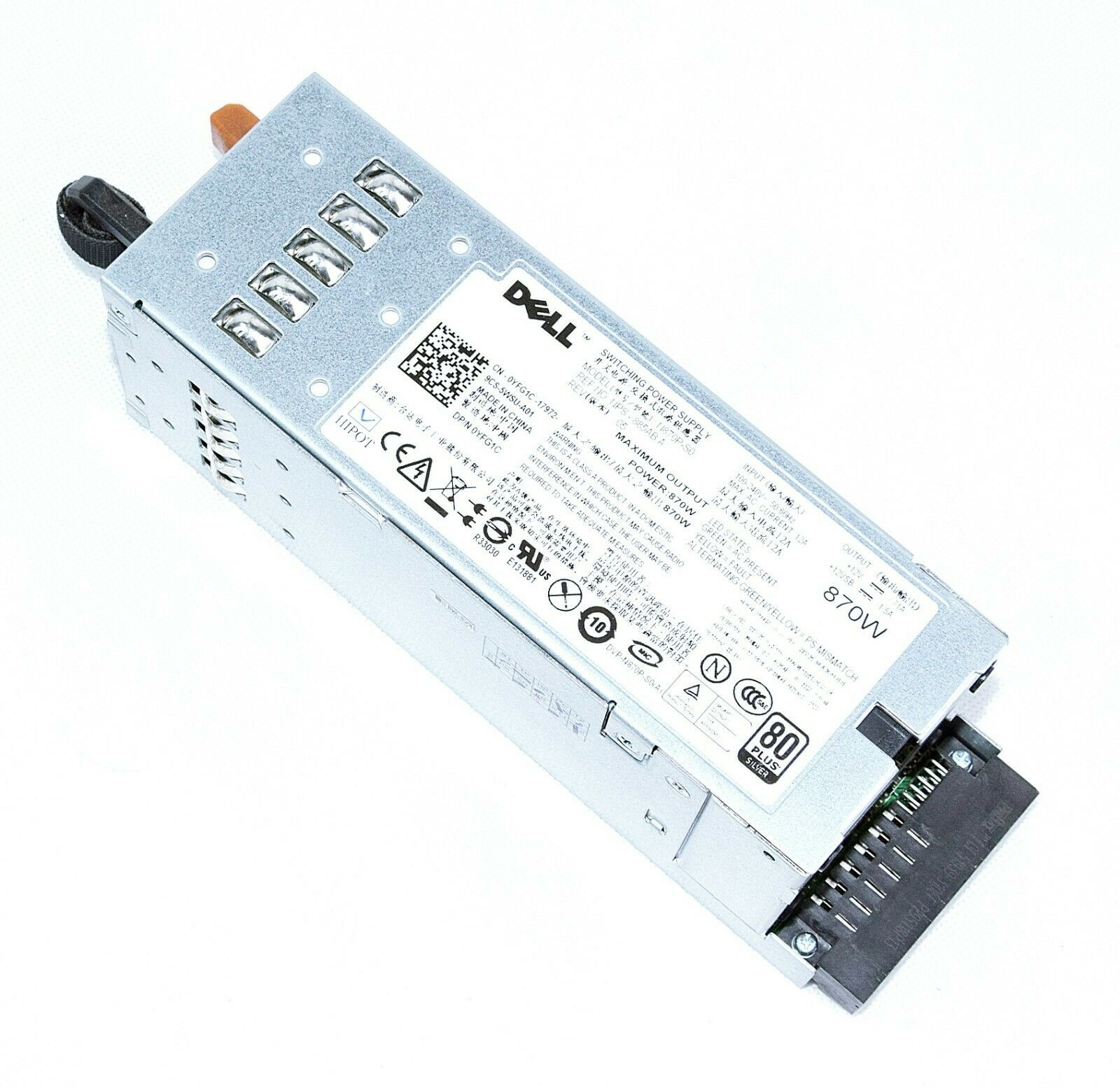 DELL PSU Power Supply 870W N870P-S0 NPS-885AB A 0YFG1C PowerEdge R710 T610
