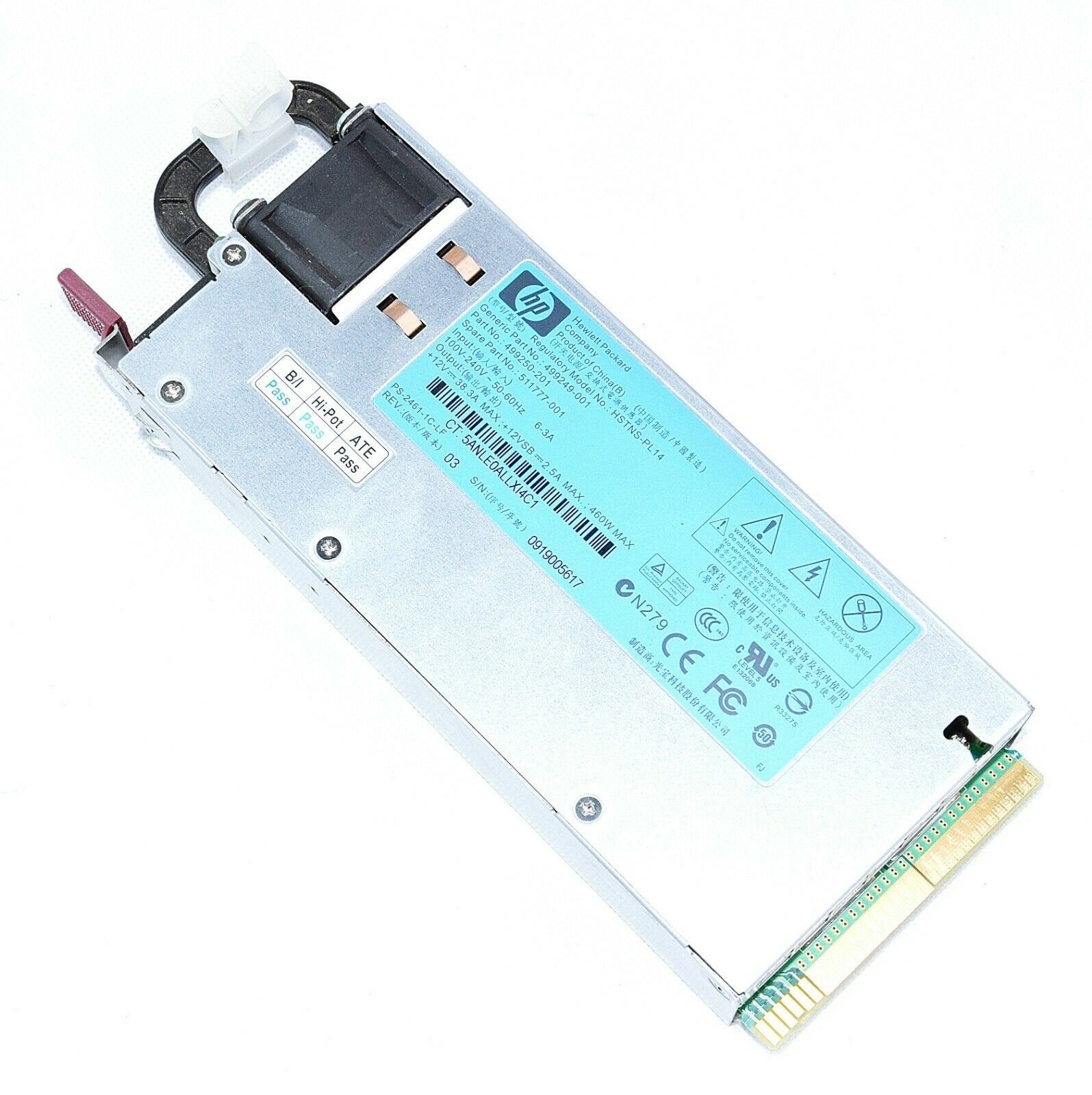 ML350 DL380 HP Proliant 511777-001 460W Power Supply 499249-001 for DL360 G6