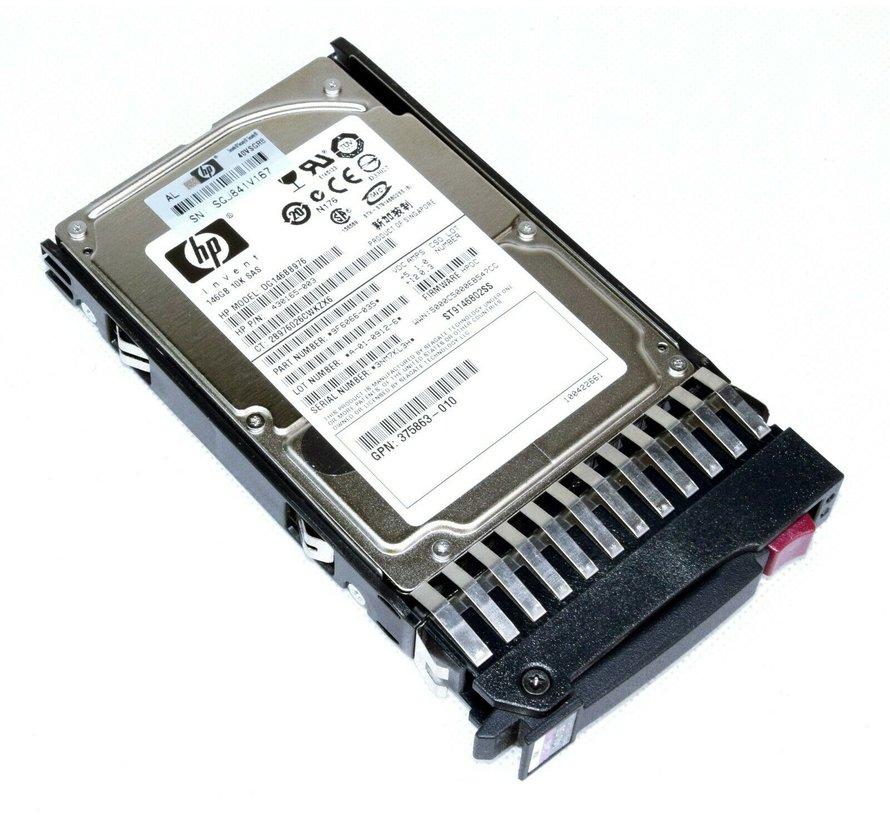 "HP SAS-Festplatte 146GB 10k 2,5"" 6Gbit/s 430165-003 DG146BB976 mit Rahmen"
