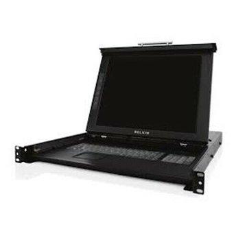"BELKIN F1DC101P-DR OmniView 17"" Rackmount LCD Console Tastatur Monitor"