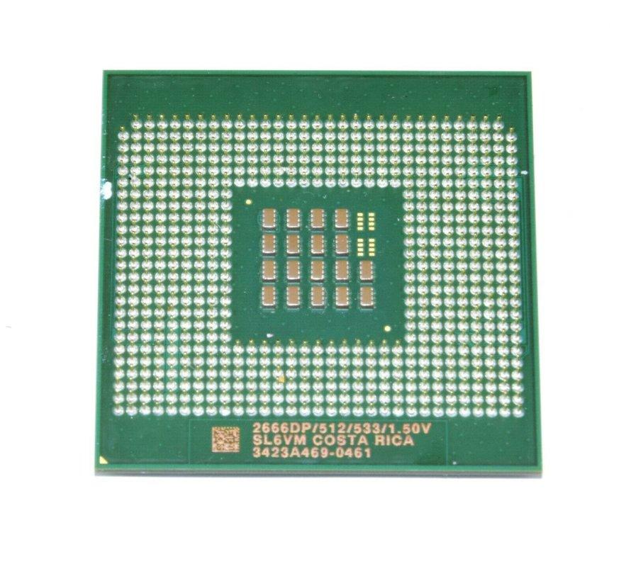 Procesador de CPU Intel Xeon 2666 DP SL6VM 2.66GHz / 512KB / 533MHz Socket / Socket 604