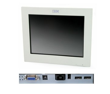 """IBM IBM 4820-21W SurePoint 12 """"Touch Monitor TFT without stand / power supply white"""