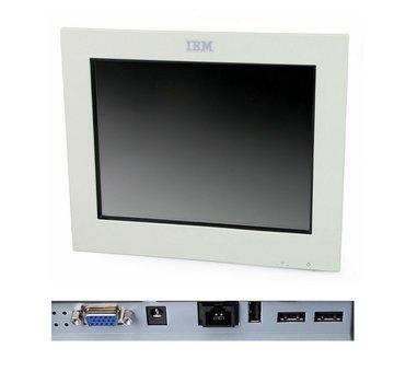 """IBM IBM 4820-21W SurePoint TFT de monitor táctil de 12 """"sin soporte / fuente de alimentación blanco"""