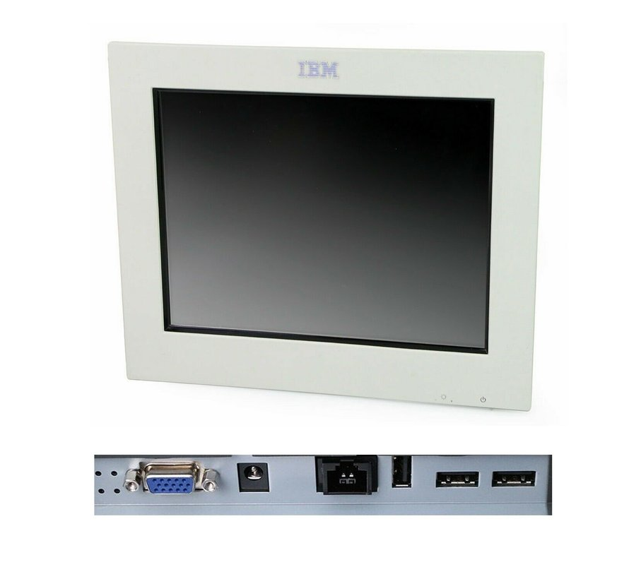"IBM 4820-21W SurePoint 12 ""Touch Monitor TFT without stand / power supply white"