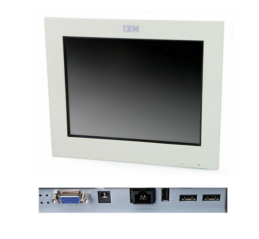 """IBM 4820-21W SurePoint TFT de monitor táctil de 12 """"sin soporte / fuente de alimentación blanco"""