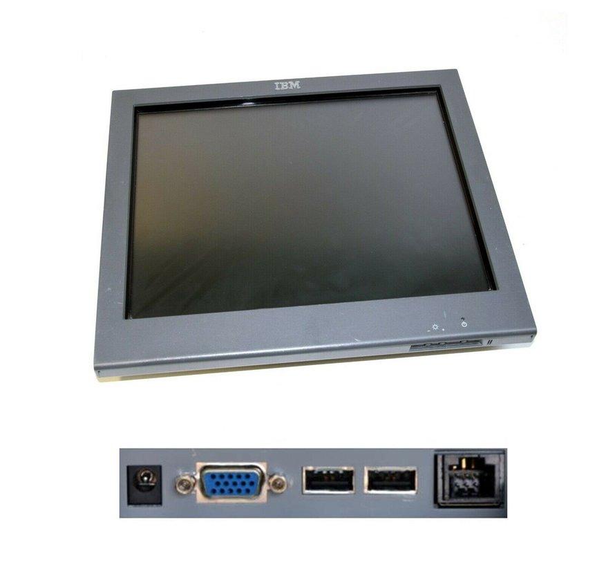 """Pantalla táctil con pantalla táctil de IBM SurePoint Touch Monitor 1520-5GB de 15 """"de IBM"""
