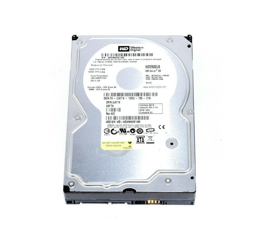 """Western Digital WD2500JS-75NCB3 250.0GB 7200RPM 3.5 """"Hard Disk"""