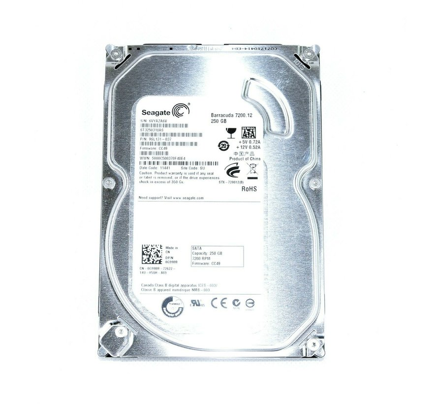"Seagate Barracuda 7200.12 250GB ST3250318AS 7200RPM 3.5 ""hard drive"
