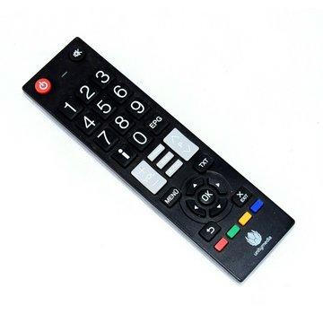 Televisor con control remoto original de Unitymedia