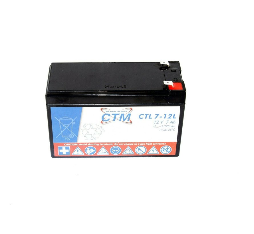 CTM CTL 7-12L Battery 12V 7Ah 040316-LE lead acid battery