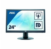 "AOC AOC E2460PQ 61cm 24"" Widescreen LED Multimedia Monitor Display 240LM00010"