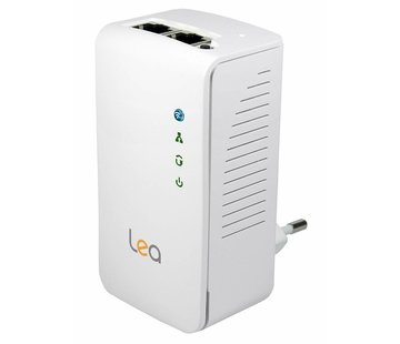 Lea Lea NetPlug 500 WLAN Powerline Adapter Network Adapter Repeater 500Mbps 2 Ports