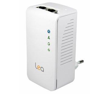 Lea Lea NetPlug 500 WLAN Powerline Adapter Netzwerkadapter Repeater 500Mbps 2 Ports