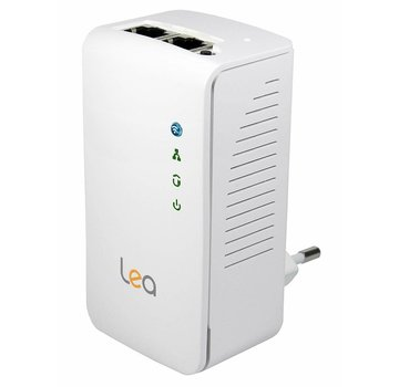 Lea Lea NetPlug 500 WLAN Powerline Adapter Netzwerkadapter Repeater 500Mbps 2 Ports