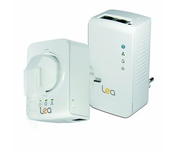 Lea Lea NetPlug 500 WLAN Powerline Adapter + NetSocket 500 adaptador de red 500Mbps
