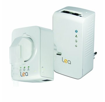 Lea Lea NetPlug 500 WLAN Powerline Adapter + NetSocket 500 network adapter 500Mbps