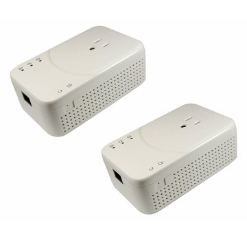 Lea Lea NetSocket 1800 Duo Powerline Gigabit Adapter 1800Mbps for USA Set 2 x