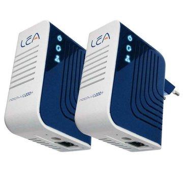 Lea 2 x Lea NetPlug 200 V + Adaptador de red Euro Powerline Adaptador de red Juego de 200 Mbps