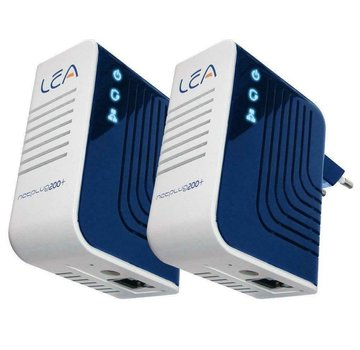 Lea 2 x Lea NetPlug 200 V+ Euro Powerline Adapter Netzwerkadapter 200Mbps Set