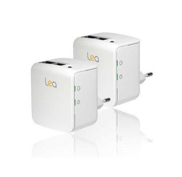 Lea 2 x Adaptador de red Lea NetPlug 200 Nano EU Powerline Adapter 200Mbps 2 puertos