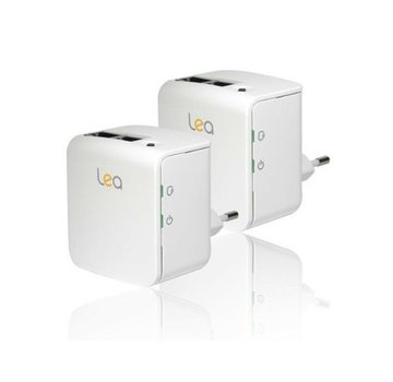 Lea 2 x Lea NetPlug 200 Nano EU Powerline Adapter Netzwerkadapter 200Mbps 2 Ports