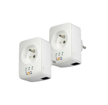 Lea 2 x Lea NetSocket 500 Mini Netzwerkadapter 500Mbps Powerline Adapter FR SET