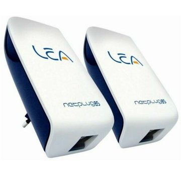 Lea 2x Lea NetPlug 85 Adaptador de red de la UE 85 Mbps Powerline Adapter SET