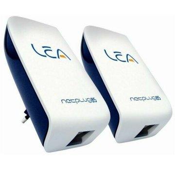 Lea 2x Lea NetPlug 85 EU Netzwerkadapter 85 Mbps Powerline Adapter SET