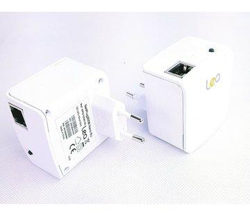 Lea 2 x Lea NetPlug 200B Nano EU Powerline Adapter Netzwerkadapter 200Mbps 1 Port