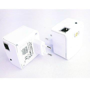 Lea 2 x Lea NetPlug 200B Adaptador de red Nano EU Powerline Adaptador de red 200Mbps 1 puerto